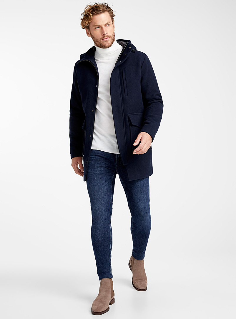 Wool parka - Overcoats - Marine Blue