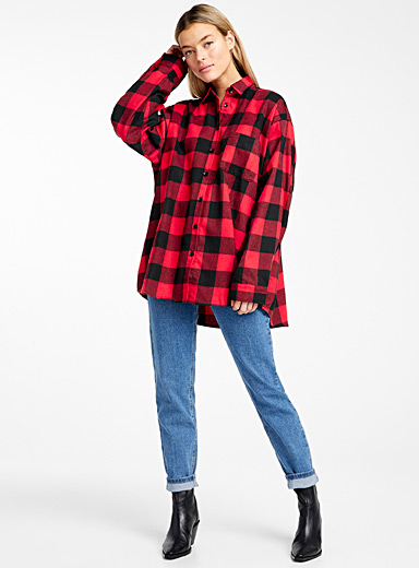 Buffalo check mega-shirt