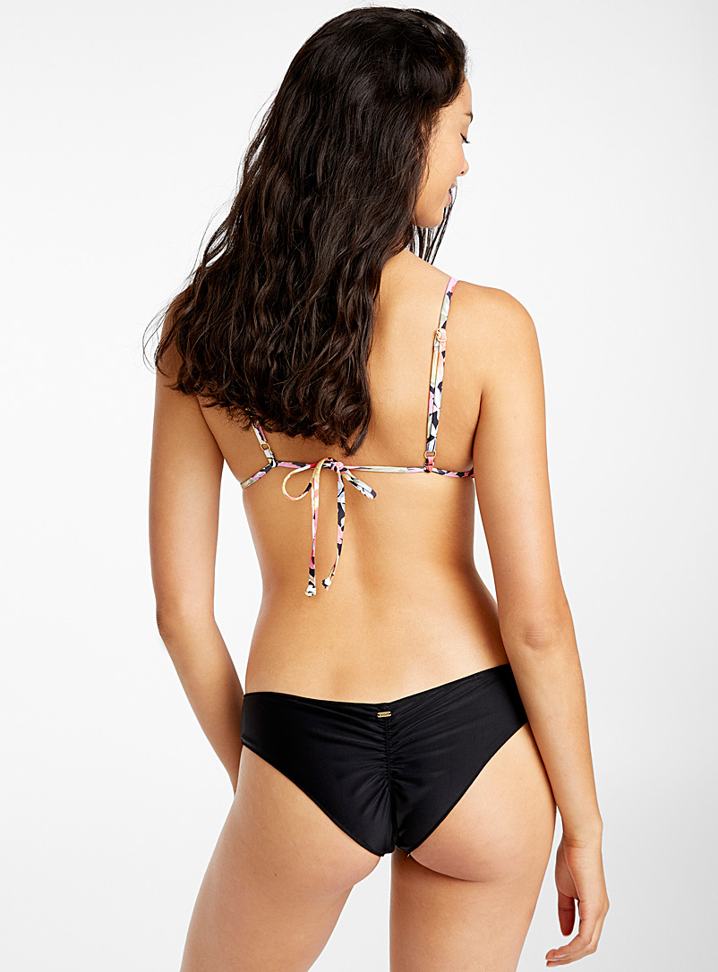 Delicate ruched bottom - Cheeky - Black
