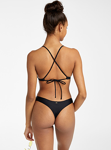 Rip Curl Black Classic Surf Eco thong for women