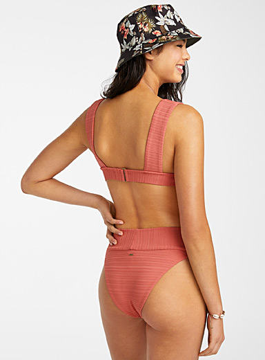 Rip Curl Copper Embossed coral small bikini for women