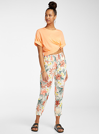 Rip Curl Patterned White Anini boho flora pant for women