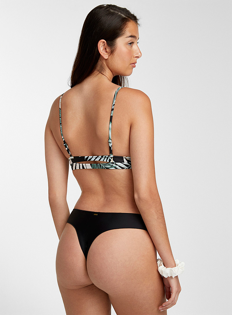 Rip Curl Black Solid minimalist thong for women