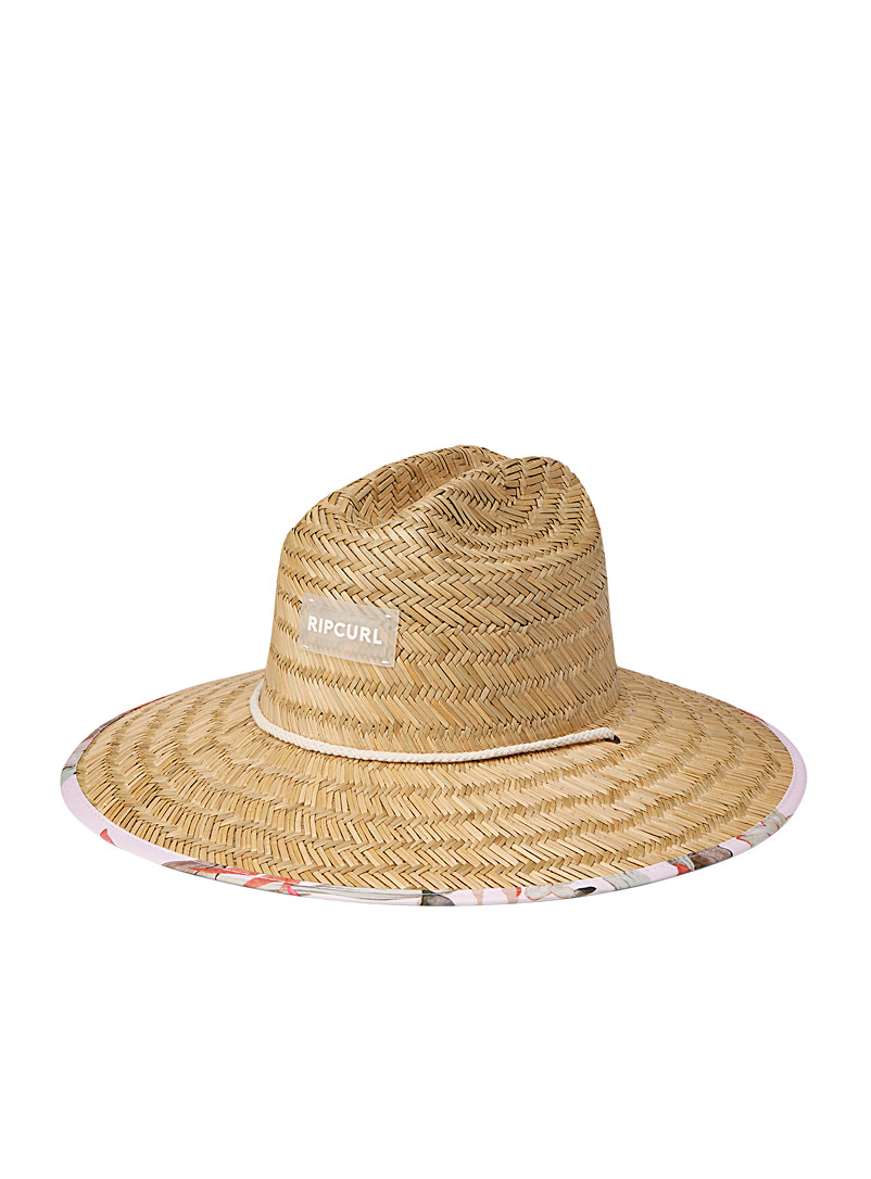 Rip Curl Cream Beige North Shore straw hat for women