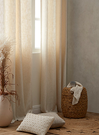 "Faux-linen curtain  51""e; x 86""e;"