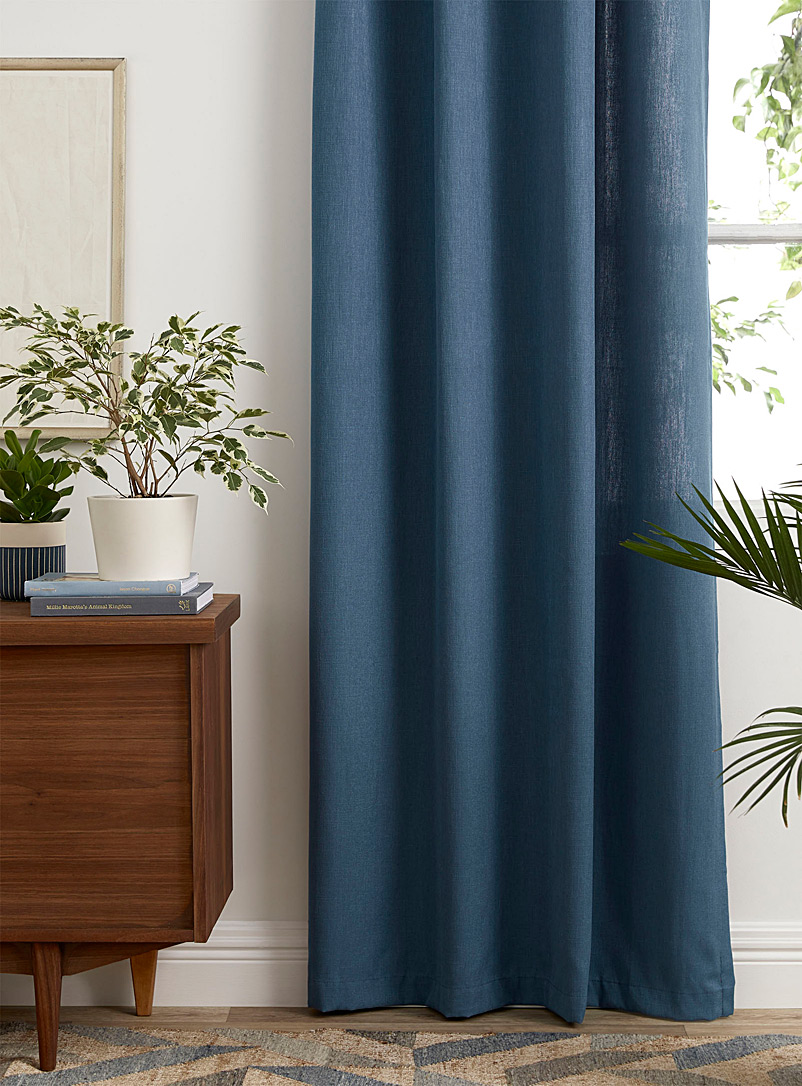 Simons Maison Teal Faux-linen curtain  2 sizes available