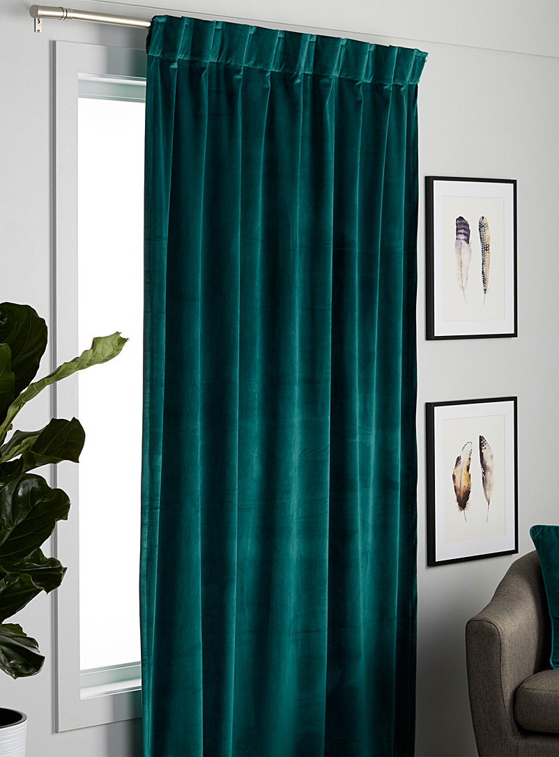 Silky velvet curtain  52&quote; x 86&quote; - Solid - Teal
