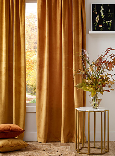 Silky velvet curtain  52&quote; x 86&quote;