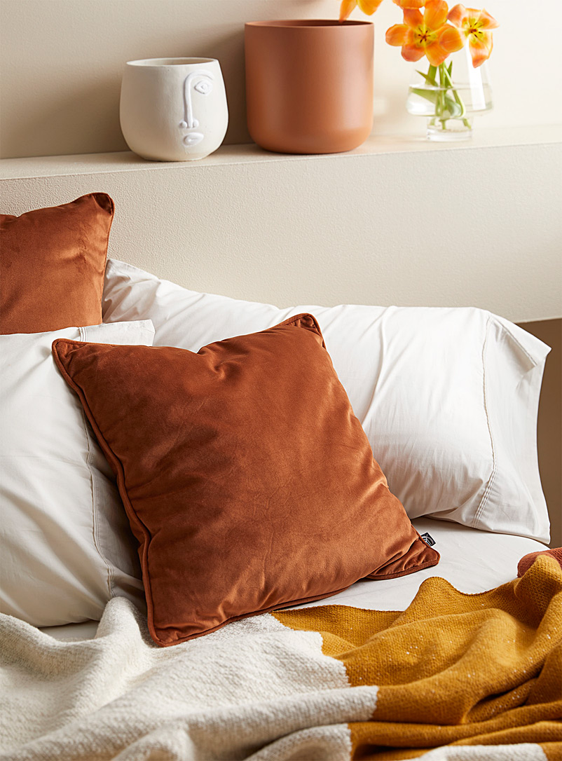 Simons Maison Brown Silky velvet cushion  45 x 45 cm