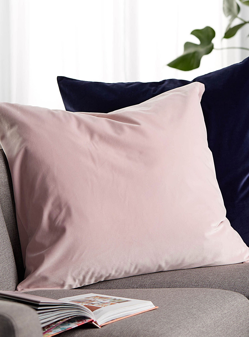 Soft velvet Euro cushion  26&quote; x 26&quote; - Solid - Dusky Pink