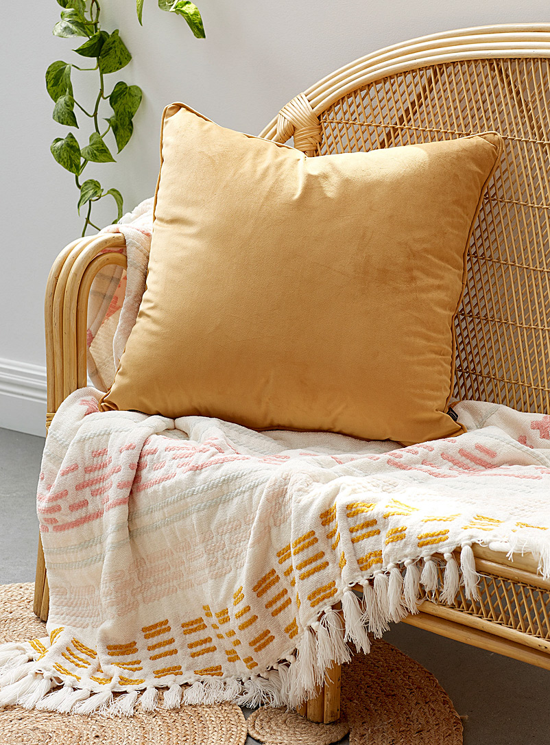 Simons Maison Medium Yellow Soft velvet Euro cushion  60 x 60 cm