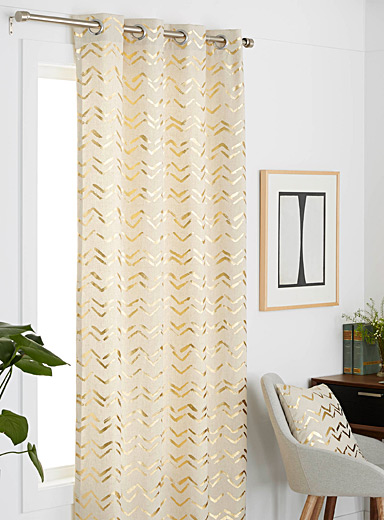 Golden canvas curtain  51&quote; x 86&quote;