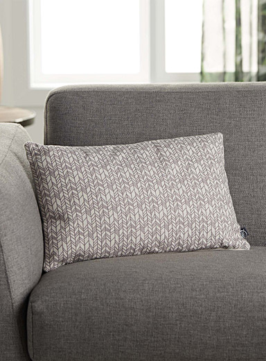 Fine herringbone cushion  30 x 50 cm