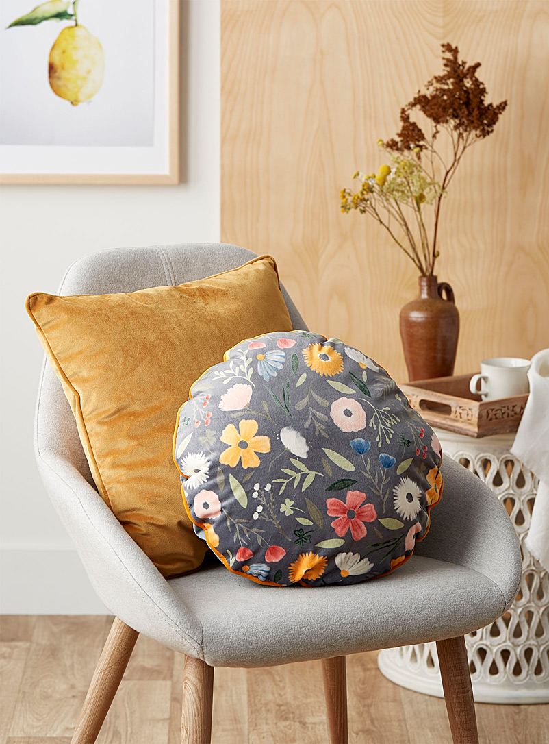 Simons Maison Assorted Soft floral cushion  35 cm in diameter
