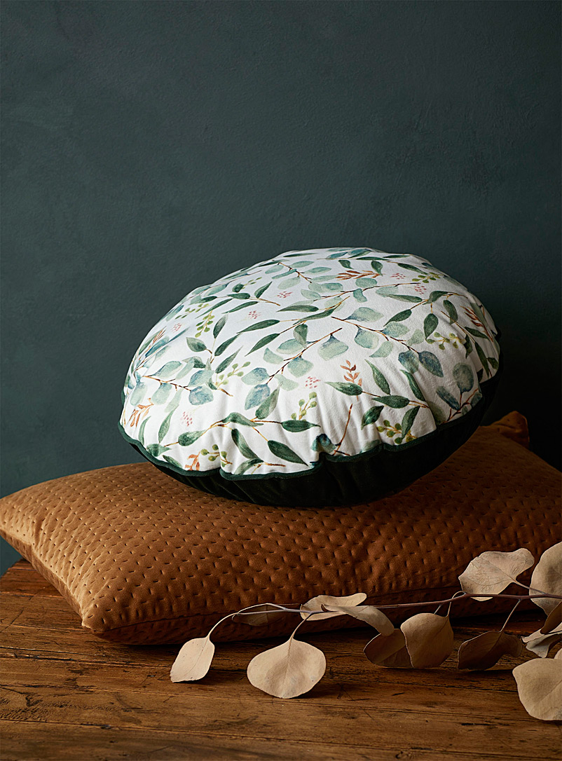 Simons Maison Assorted Eucalyptus scent cushion  35 cm in diameter