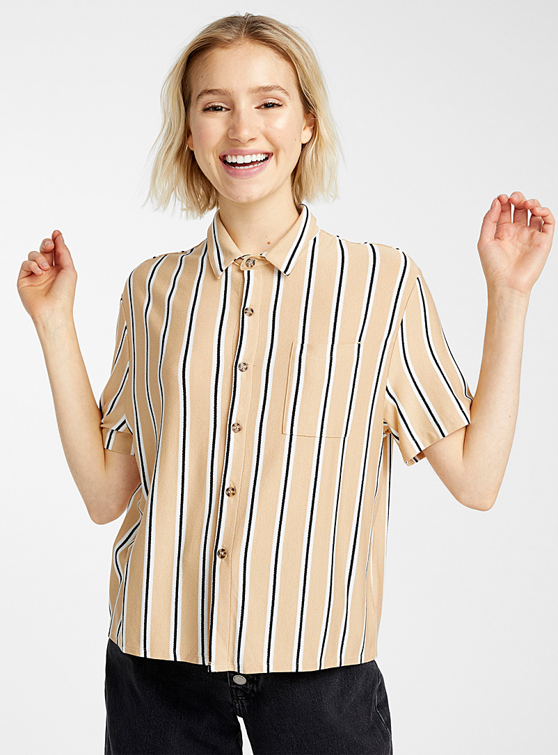 Spicy stripe shirt - Shirts - Dark Yellow