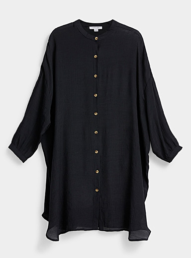 Simons Black Fluid loose shirt for women