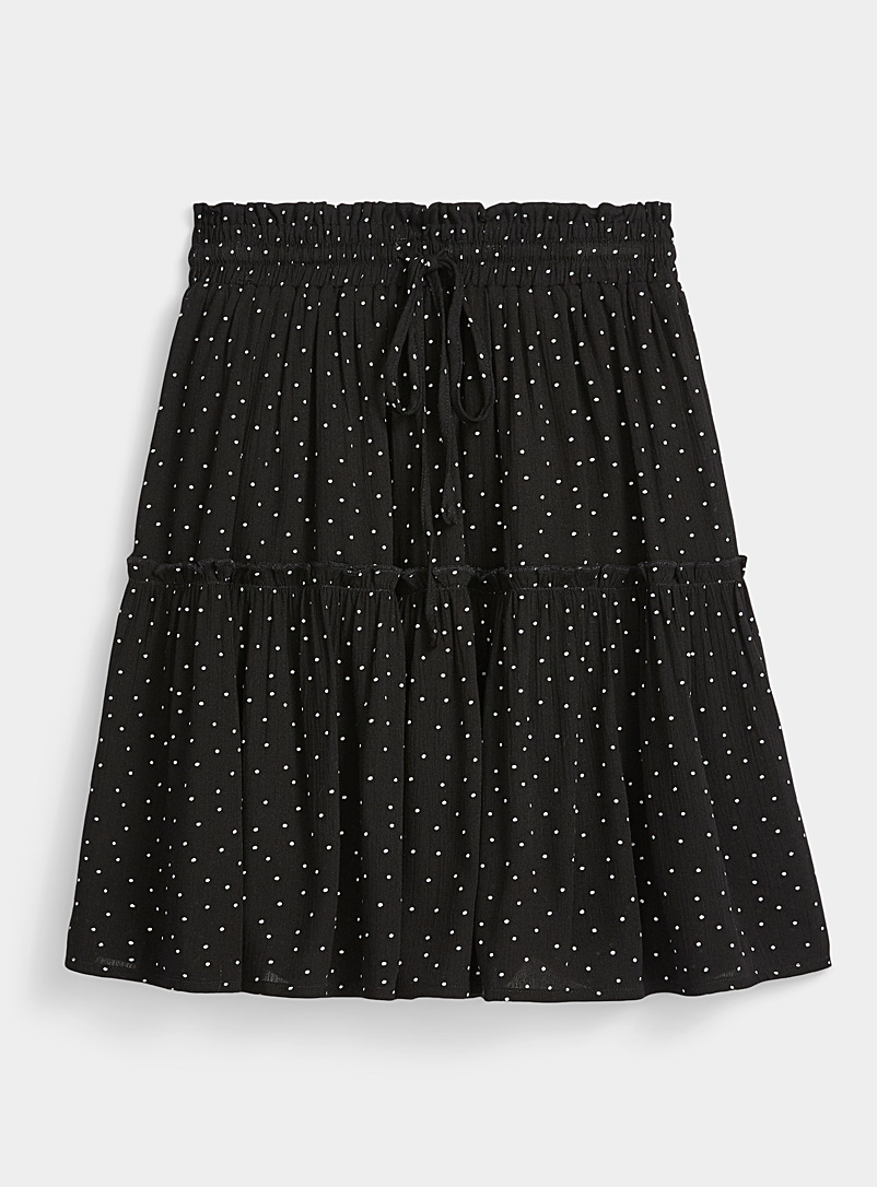 Twik Black Dot and ruffle skirt for women