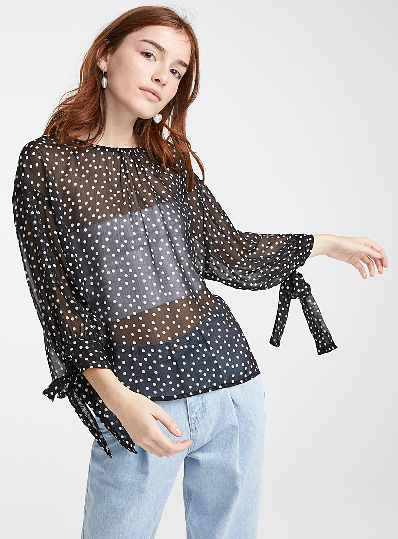 dotted-sheer-blouse