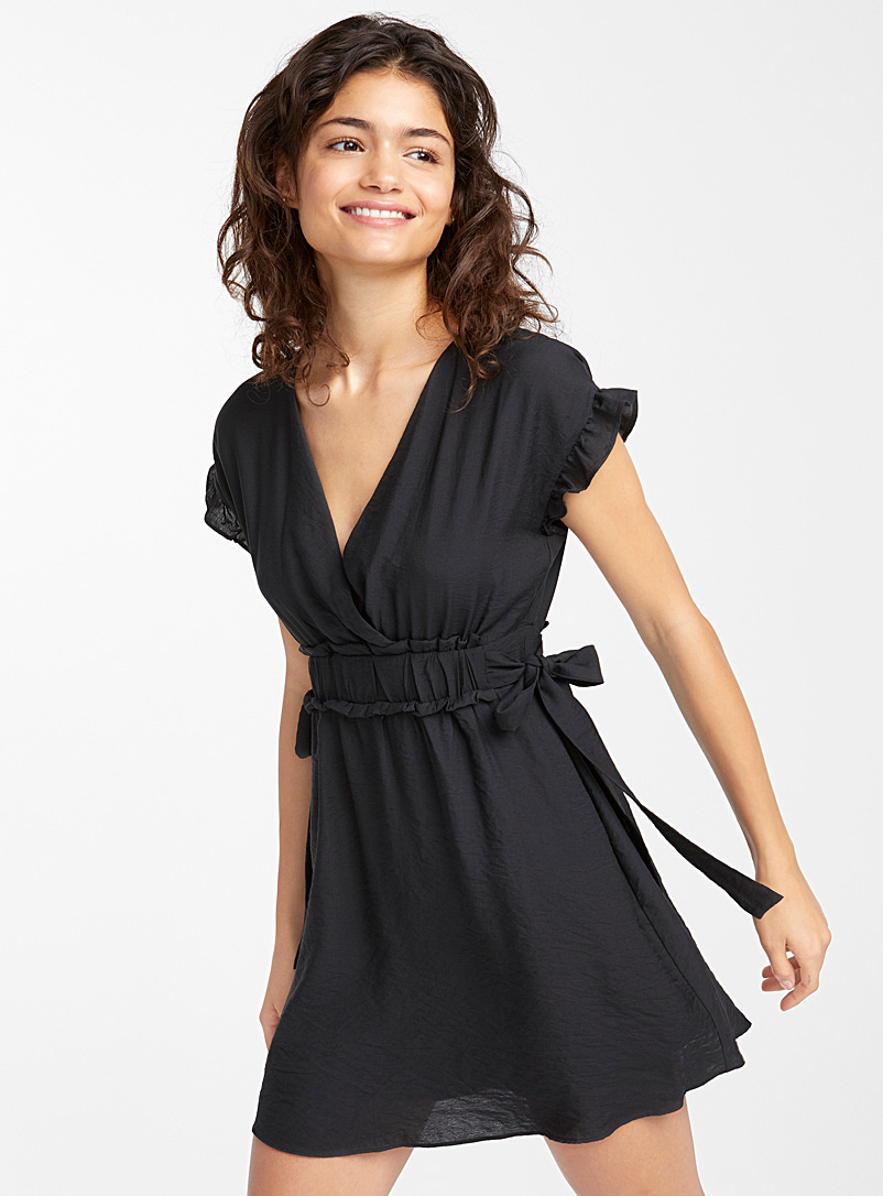 Bow and ruffle dress - Fit & Flare