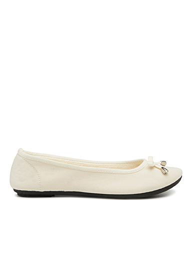 Stretch cotton ballet slippers