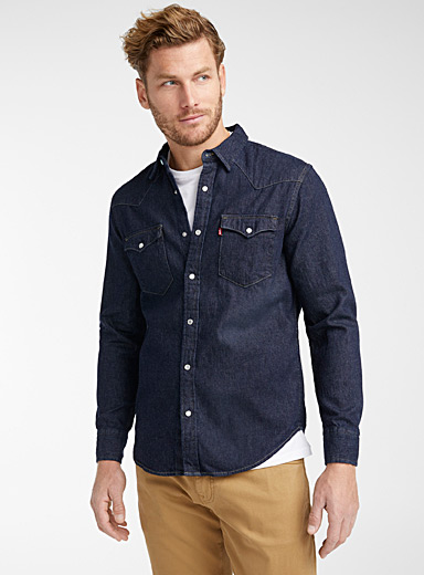 Western denim shirt <br>Modern fit