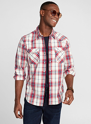Western checkered shirt <br>Semi-tailored fit