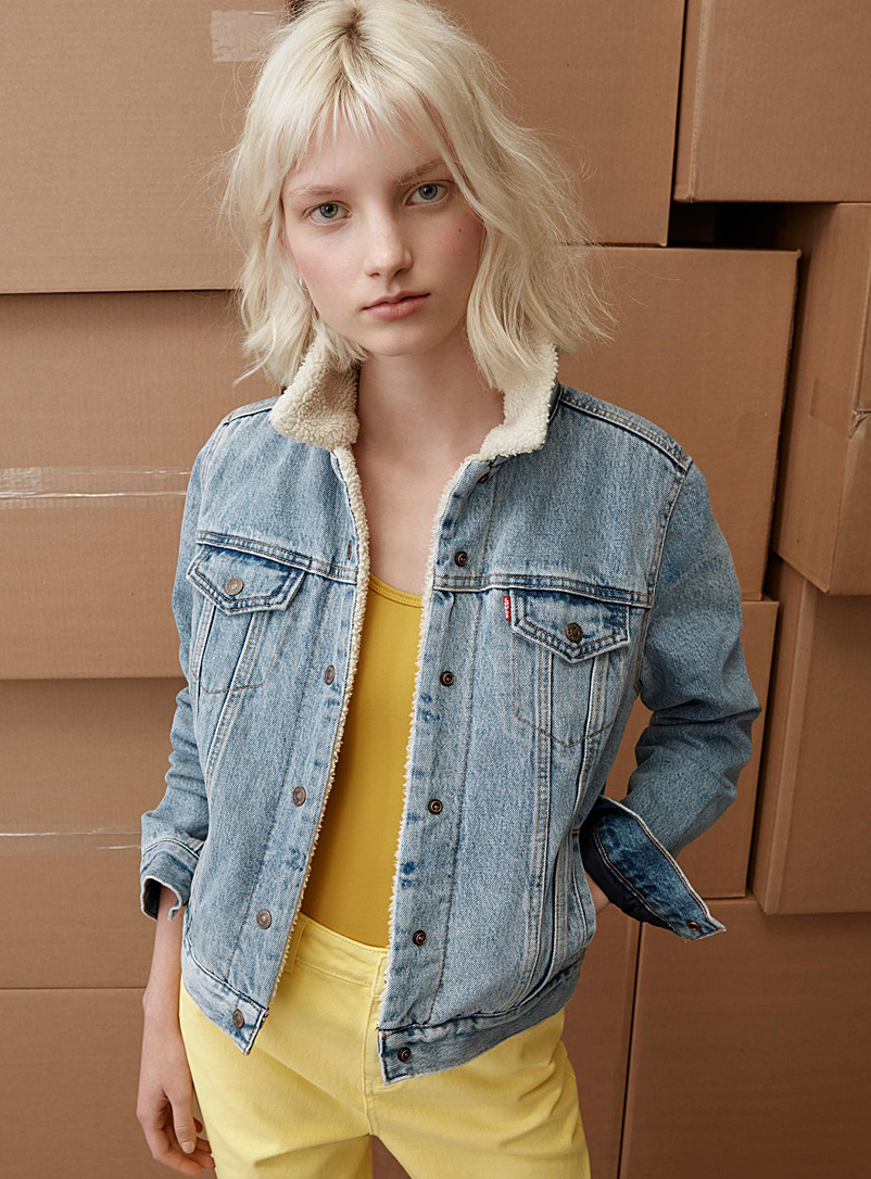 Trucker jean jacket - Jackets and Vests - Slate Blue