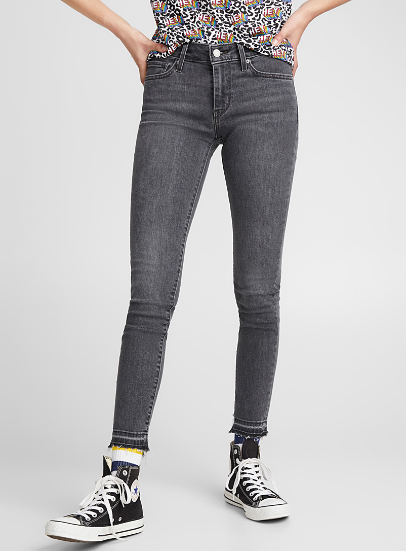 711 skinny jean - Regular Waist - Charcoal