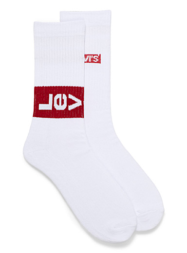 Rectangular logo sock 2-pack