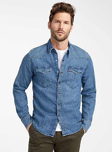 Western stretch denim shirt  Modern fit