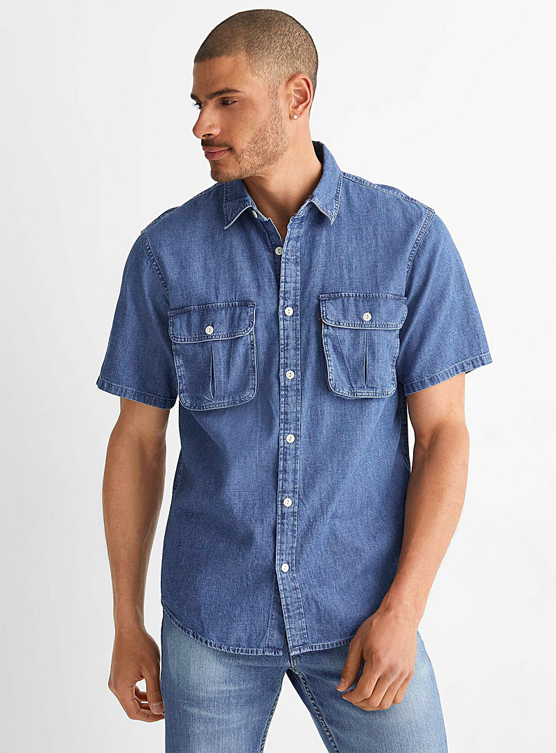 Levi's Blue Safari denim shirt for men