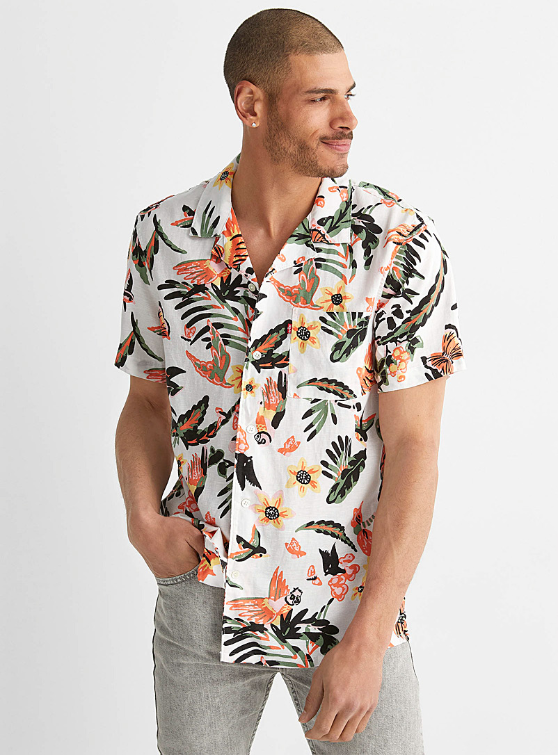 Levi's Patterned White Tropical shirt for men