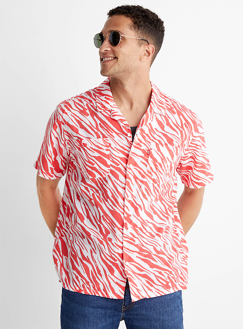 Levi's Red Bright abstract camp shirt for men