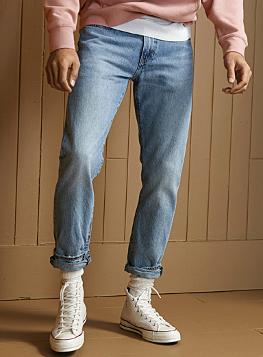 Levi's Baby Blue 502 bleached jean  Straight, slim fit for men