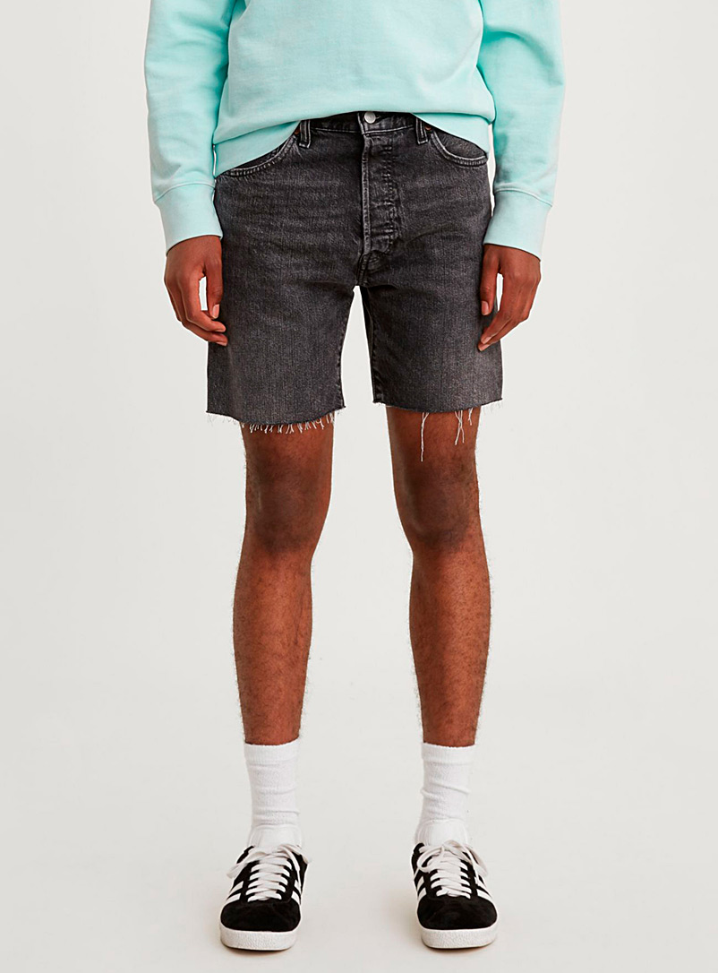 Levi's Black Faded black 501 denim short for men