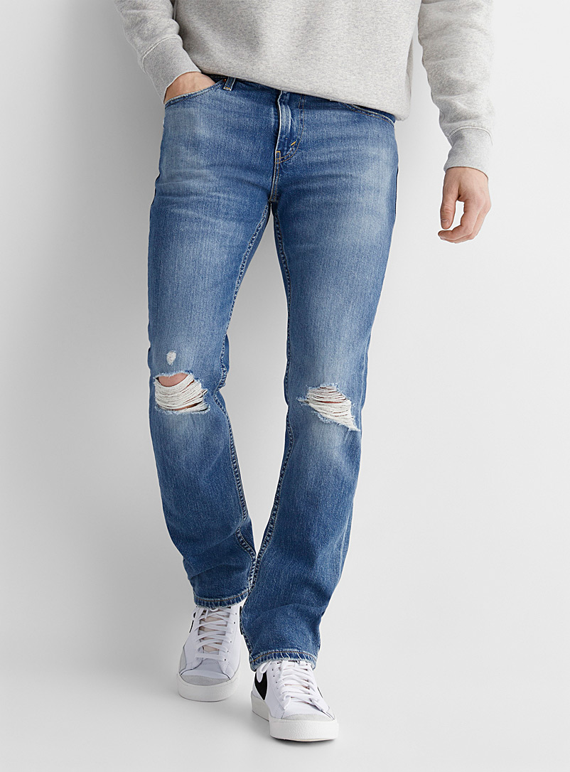Levi's Baby Blue Flex 511 ripped-knee jean Slim fit for men