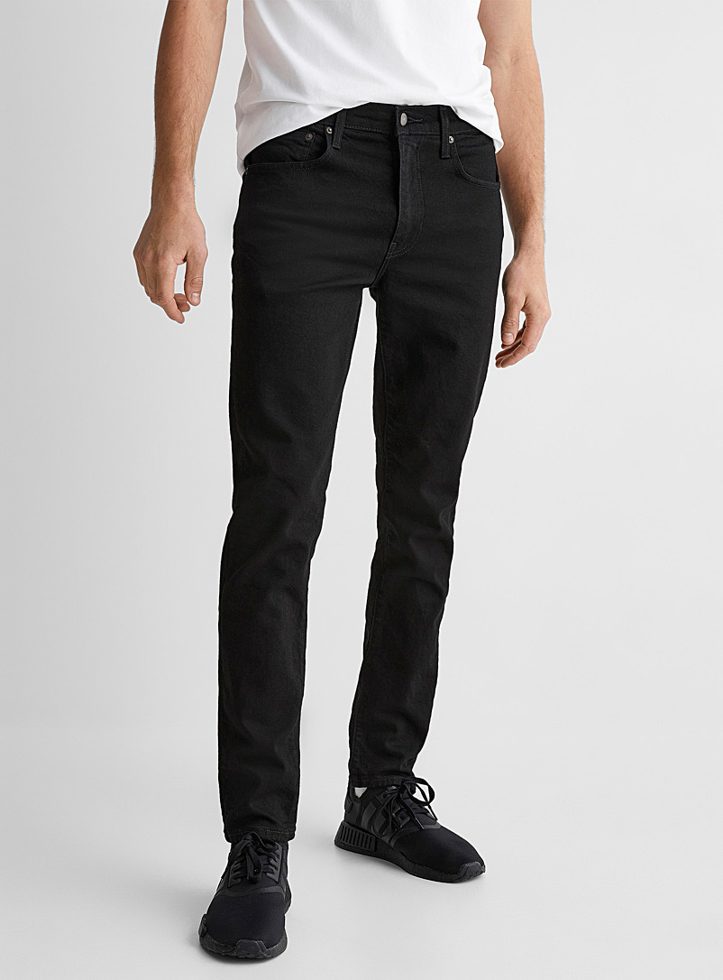 Levi's Black 512 Flex black jean Tapered slim fit for men