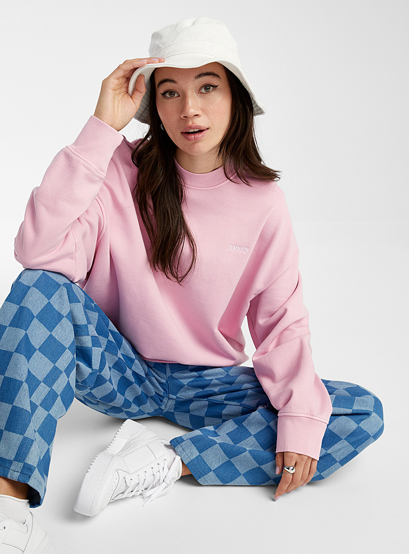Levi's Lilacs Embroidered logo loose sweatshirt for women