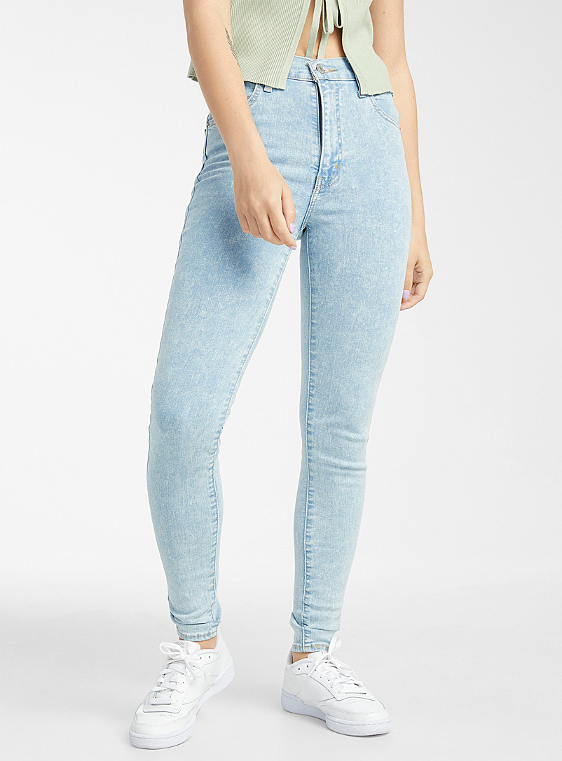Levi's Baby Blue Altitude ultra-faded high-rise skinny jean for women