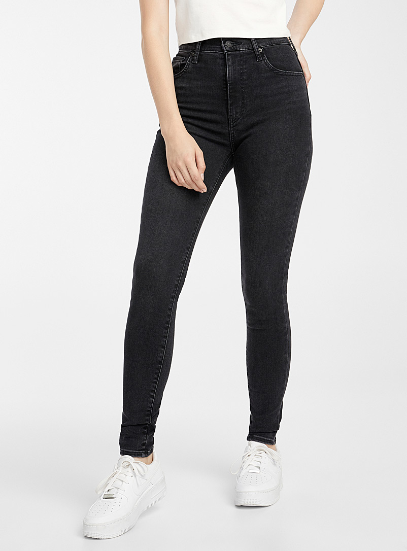Black high-rise Altitude skinny jean