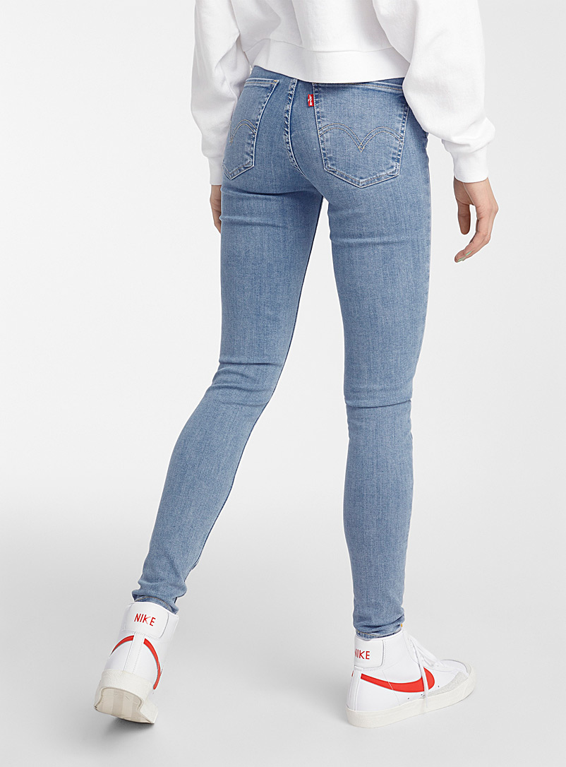 Levi's Slate Blue Distressed Altitude high-rise skinny jean for women