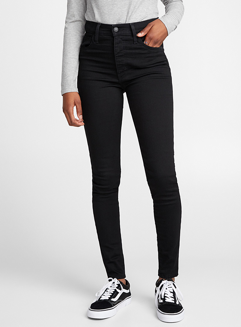 Levi's Black Mile High skinny jean for women