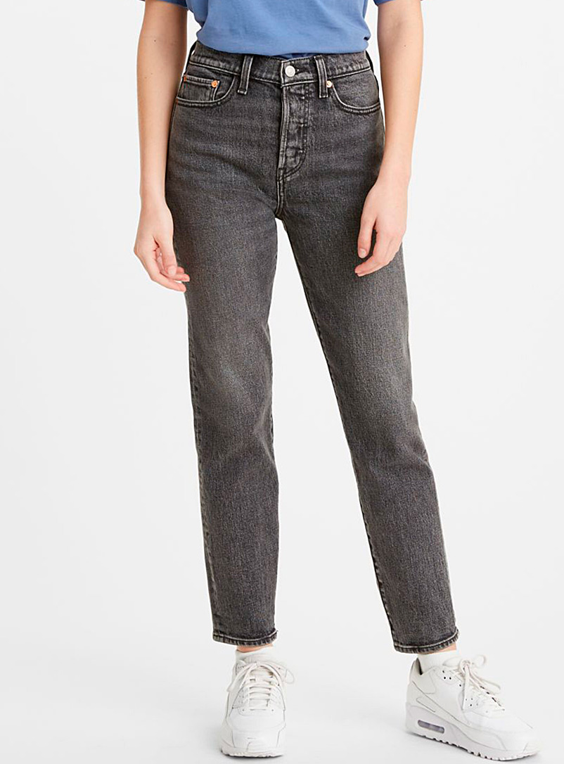 Levi's Charcoal High-rise Wedgie jean for women