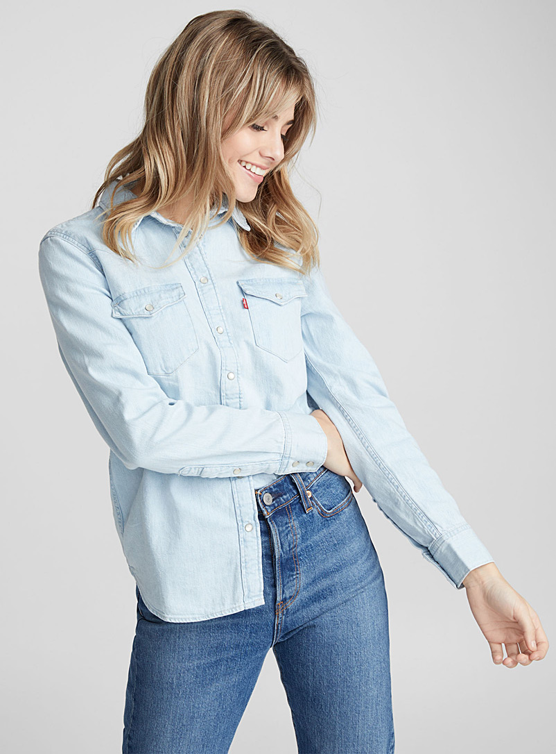 western-denim-shirt
