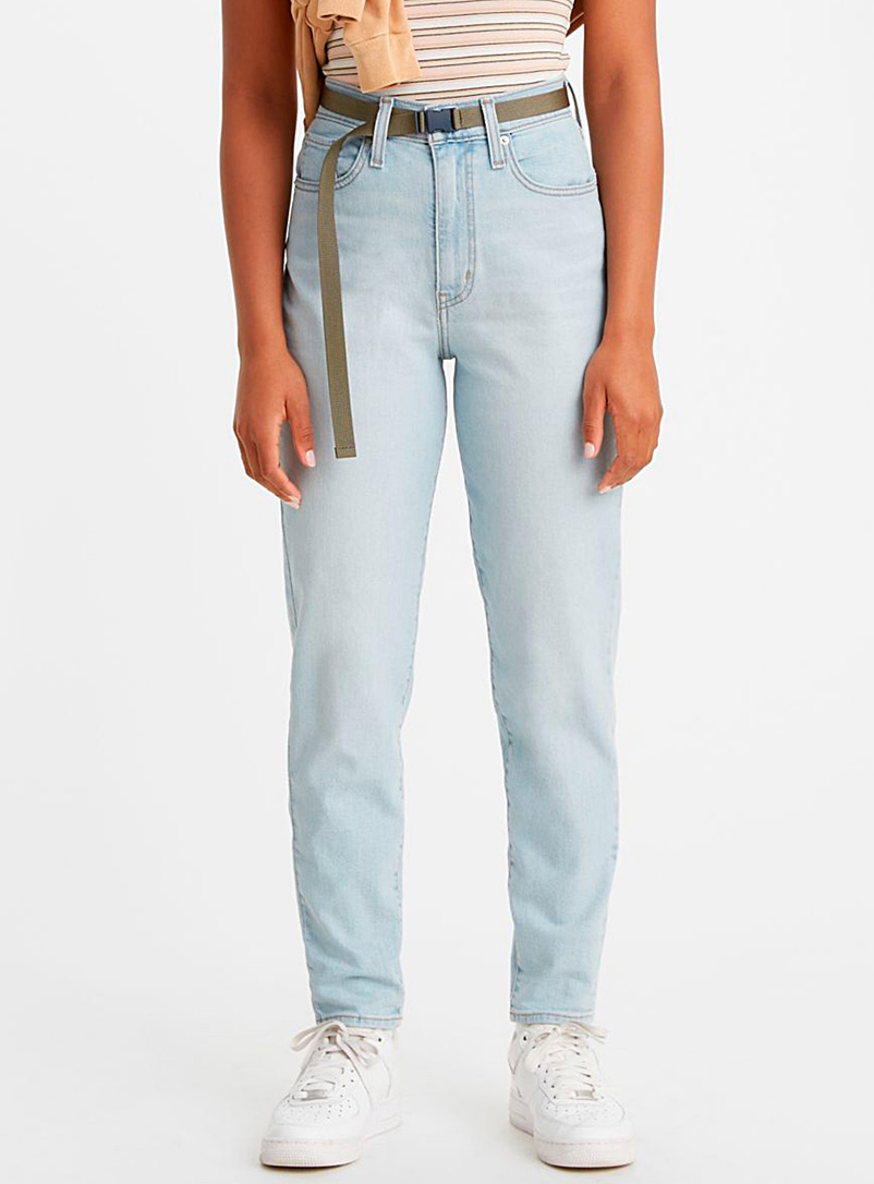 Levi's Slate Blue Taper mom jean for women