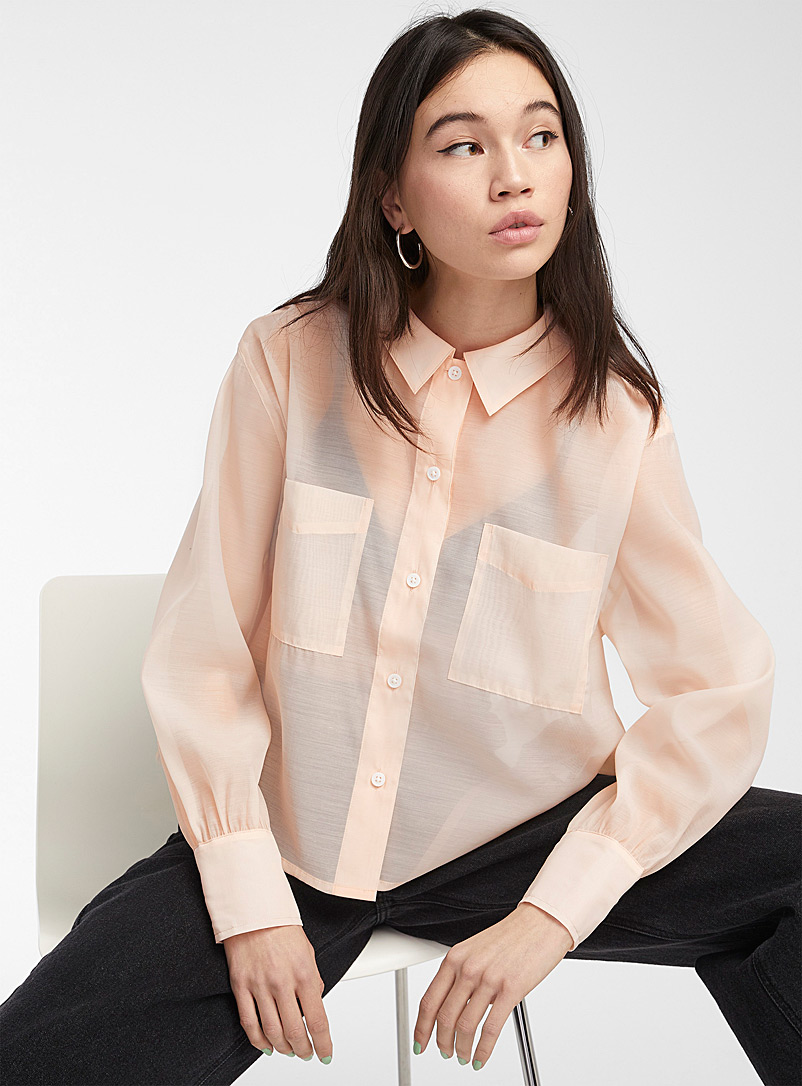 Levi's Pink Pink sugar tulle shirt for women