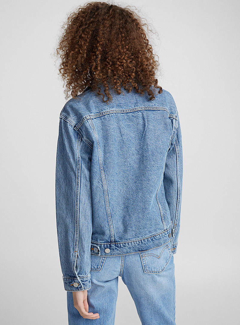 Trucker boyfriend jean jacket - Denim Jackets - Sapphire Blue