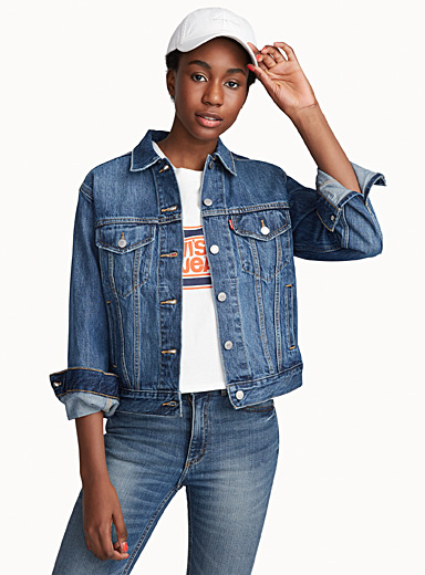Trucker boyfriend jean jacket
