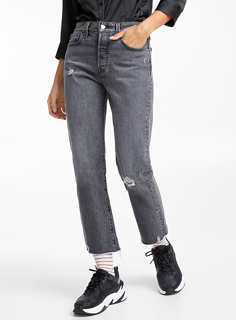 Wedgie straight high-rise jean - High Rise - Charcoal